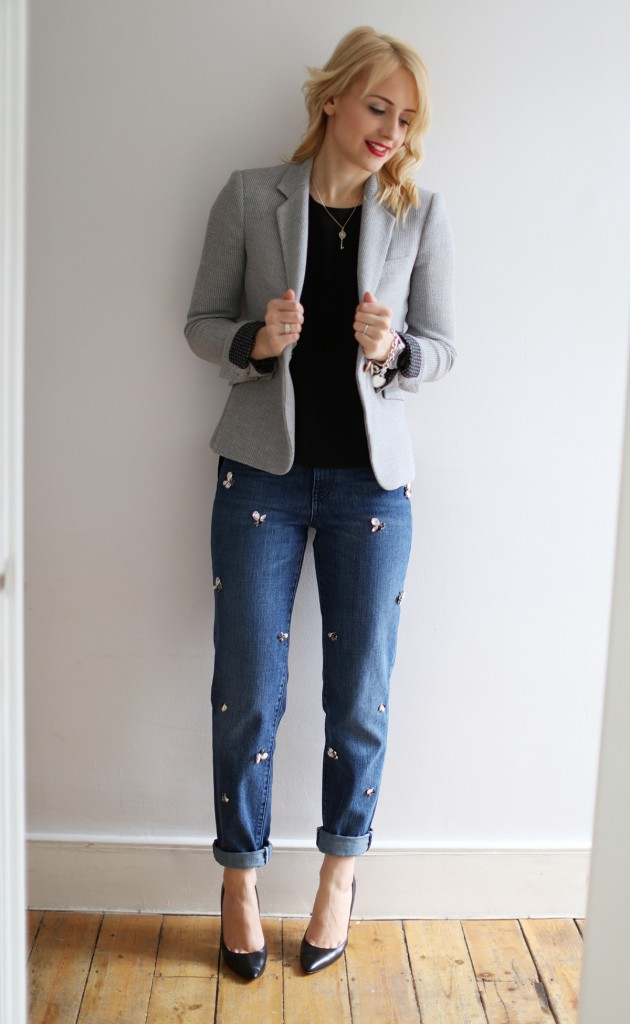 LOW cocomamastyle | denim | grey blazer outfit