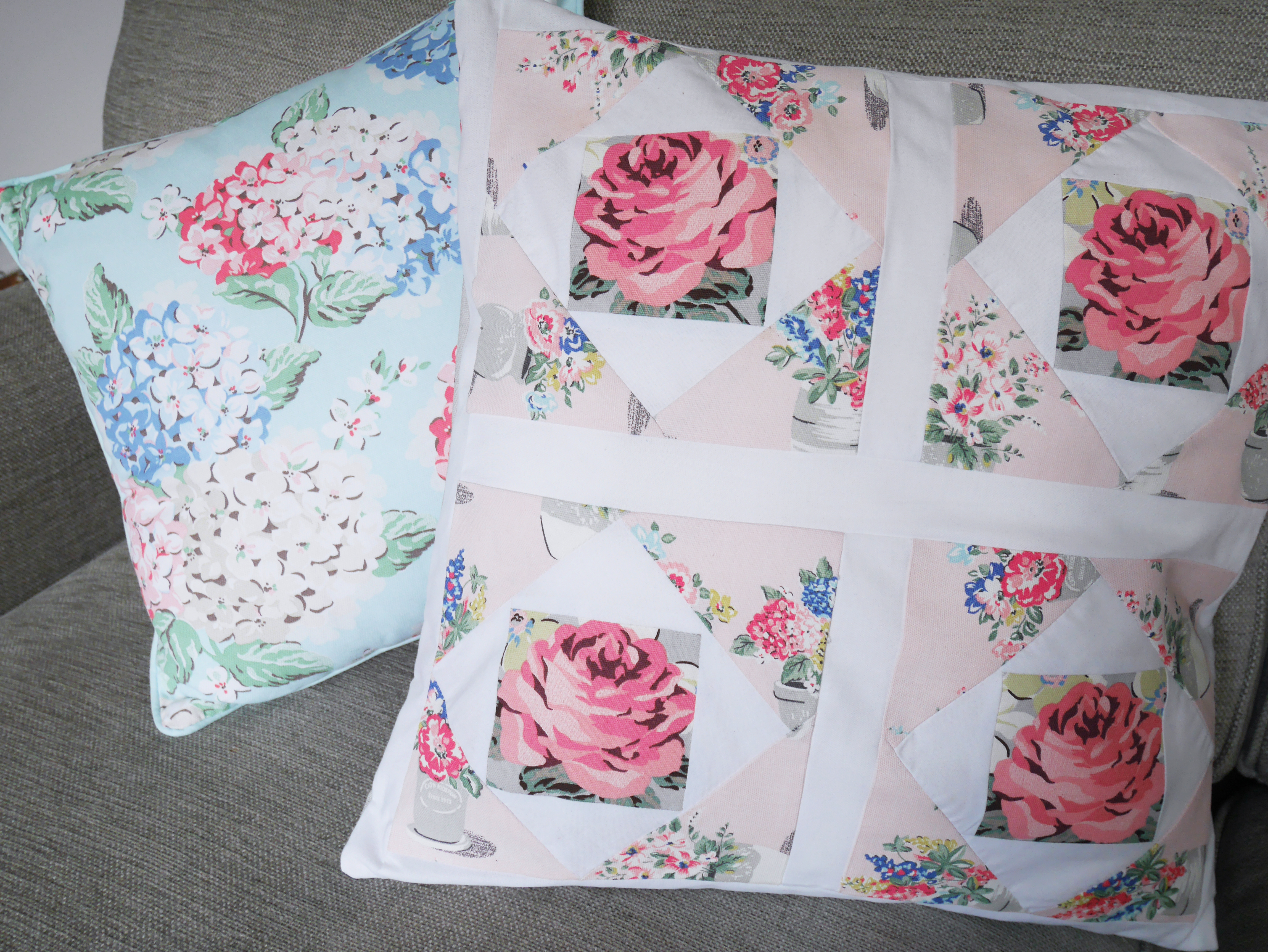 cocomamastyle | cath kidston | diy patchwork cushion | floral