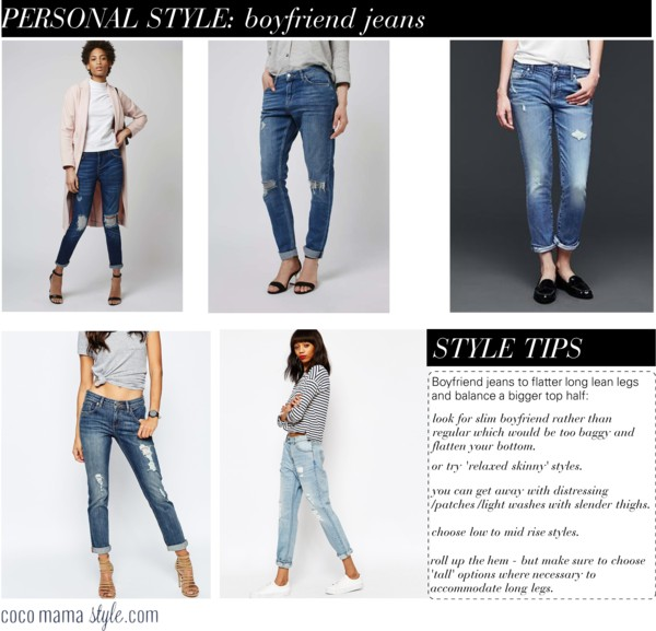 Style solutions: boyfriend jeans to suit an apple shape