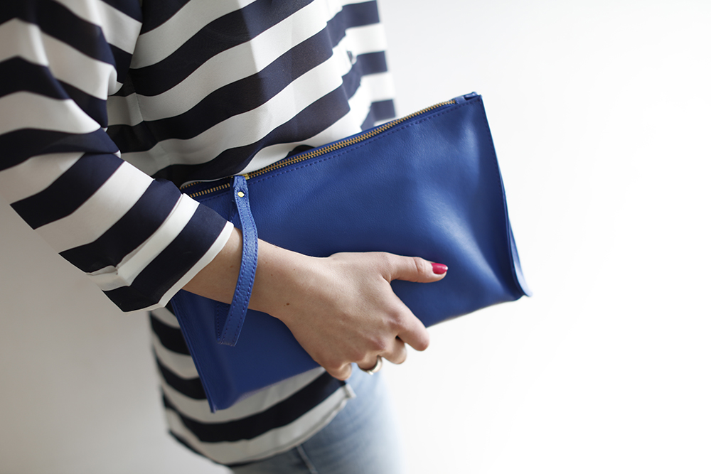 CocoMamaStyle blog | outfit of the day | stripe shirt | girlfriend jeans | blue bag