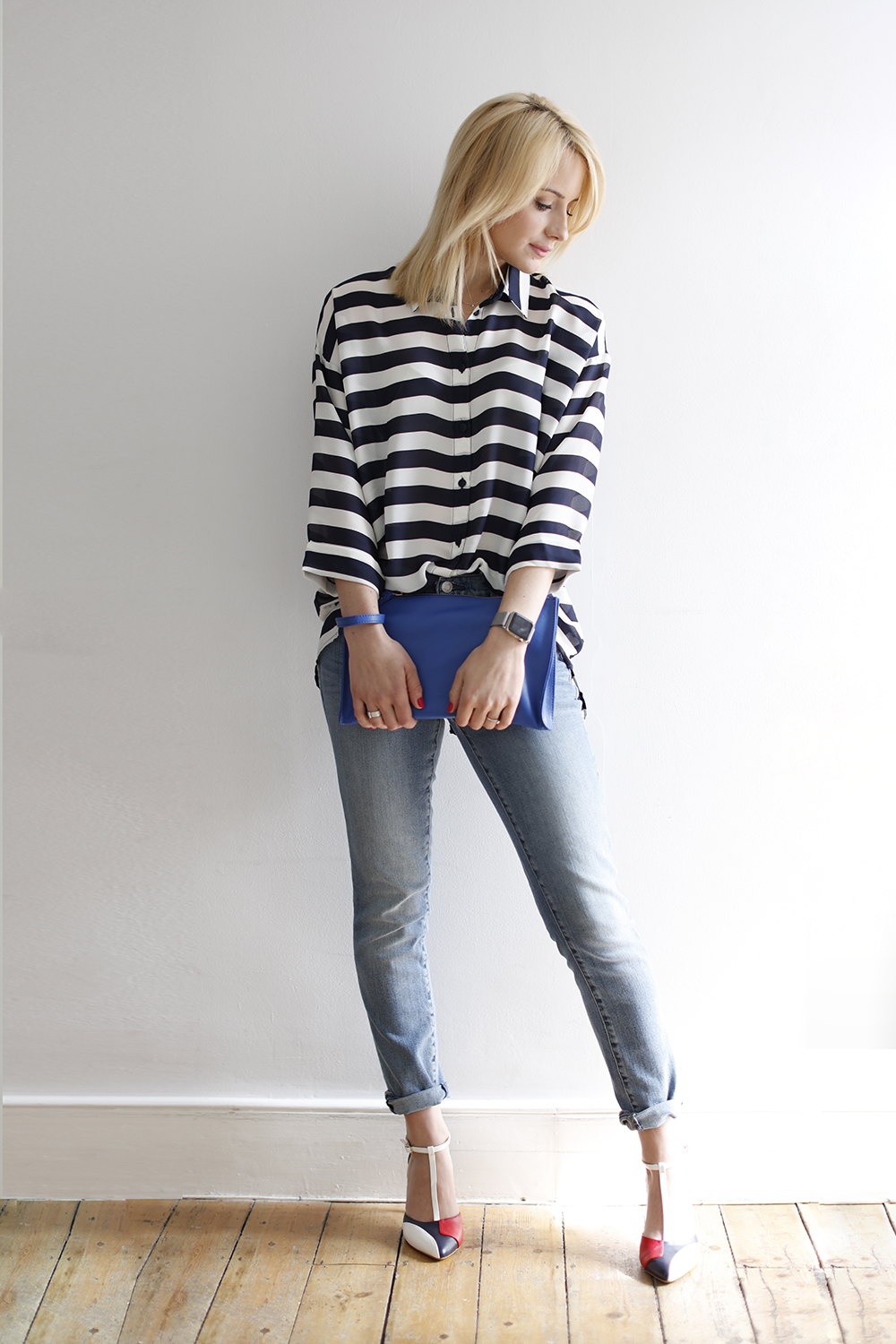 CocoMamaStyle blog | outfit of the day | stripe shirt | girlfriend jeans2