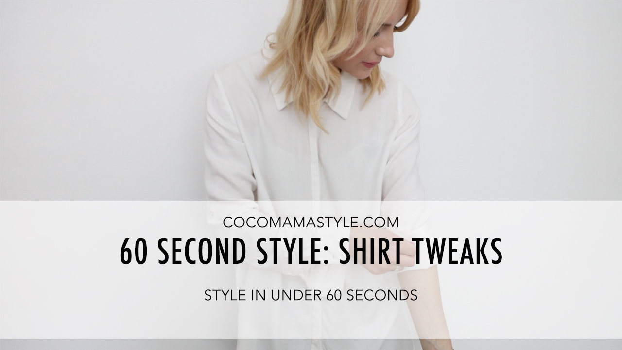 cocomamastyle | 60 second style video | shirt cuff roll