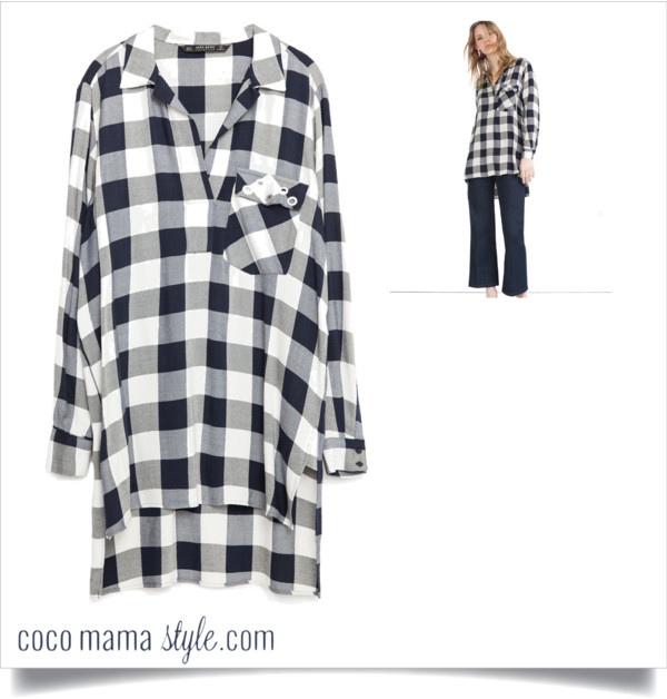 quick style fix under £50 | zara sale shirt | gingham | tunic shirt | style tips | cocomamastyle
