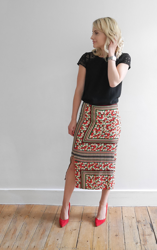 Outfit of the day | Printed skirt