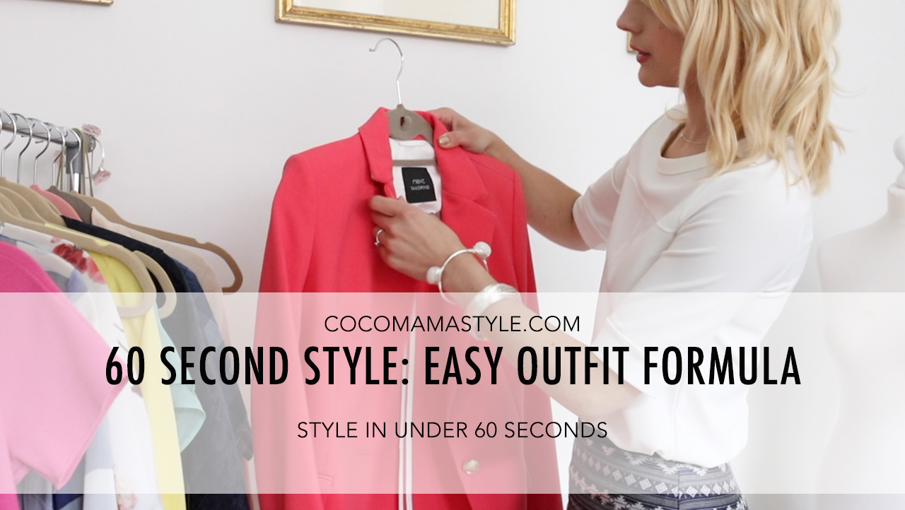 cocomamastyle | 60 second style tips | easy outfit formula | video