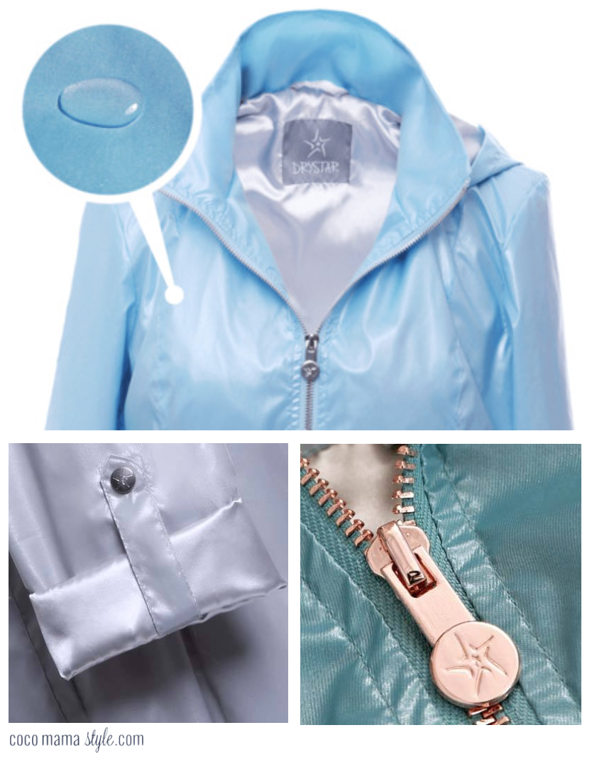 Drystar Metallic raincoat mac | cocomamastyle