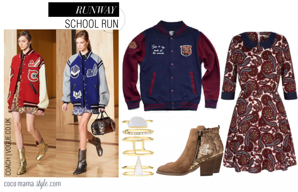 Runway to School Run style | Varsity + Print