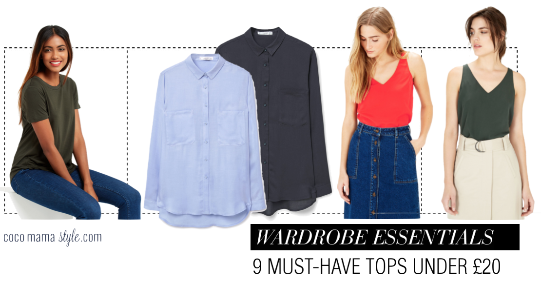 cocomamastyle | wardrobe essentials | 9 must have tops