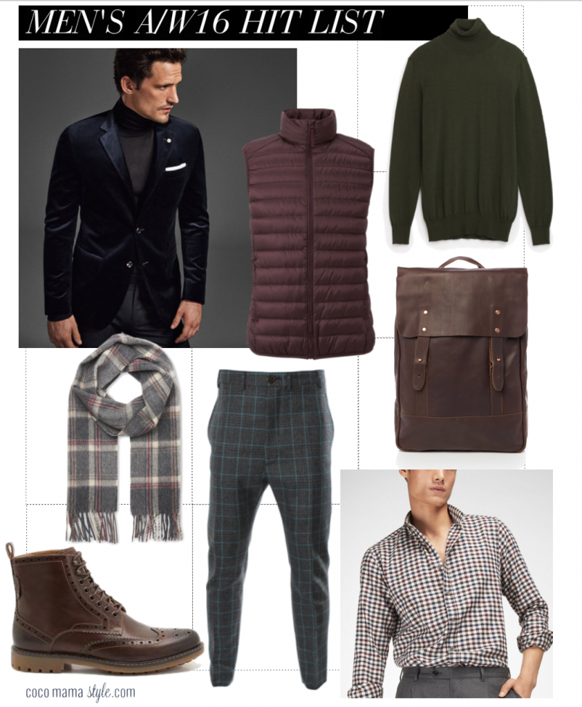 Men's A/W16 hit list