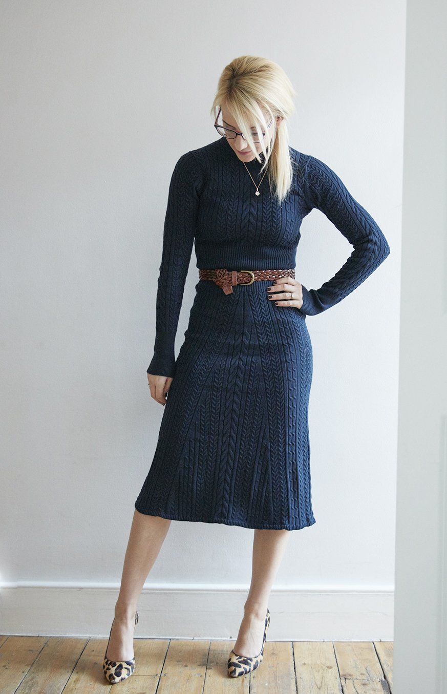 Cable knit jumper dress | Warehouse | House of Fraser | Cocomamastyle