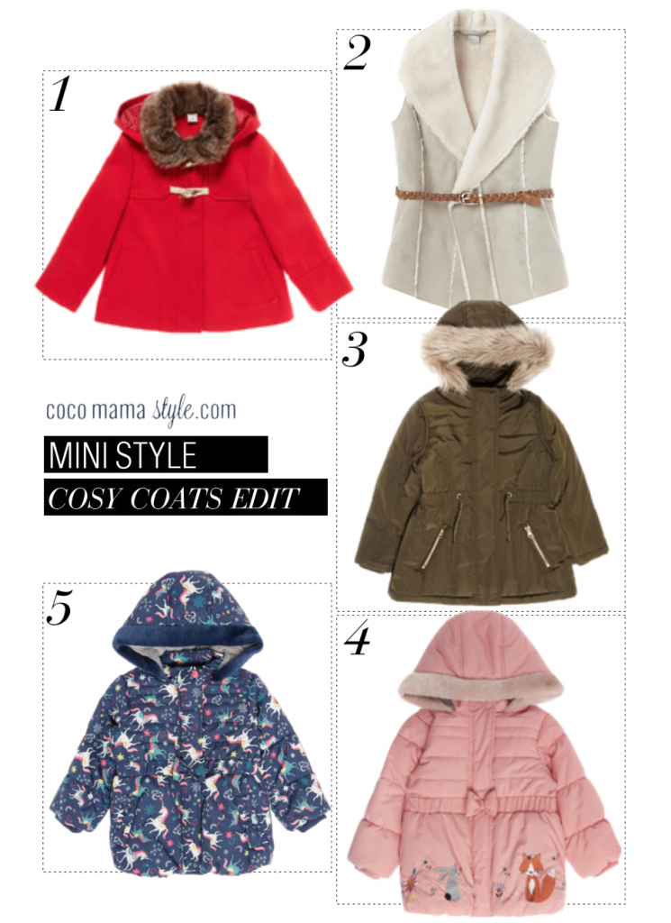 Mini style | Fur trimmed coats and jackets for girls