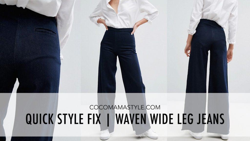 Quick Style Fix | Waven Wide Leg Jeans