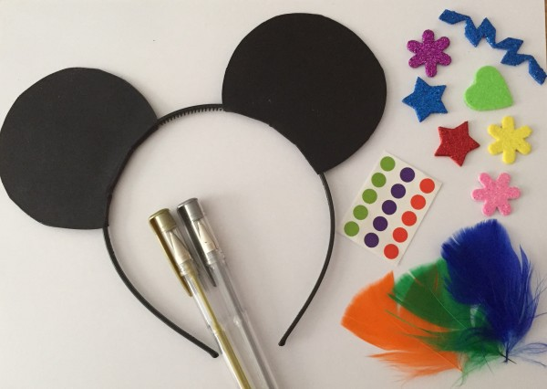 cocomamastyle party activiy decorate minnie mickey mouse ears
