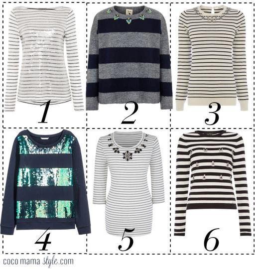 Embellished stripe tops   breton   mama style    cocomamastyle