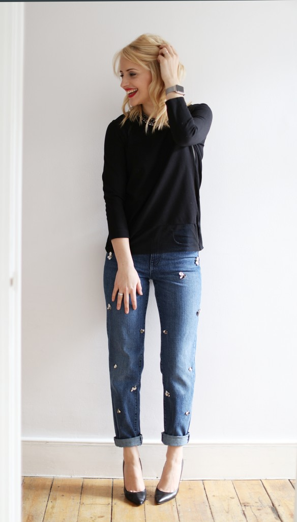 LOW cocomamastyle | denim | black sweater outfit