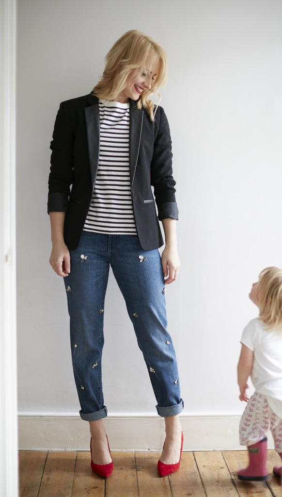 cocomamastyle | denim | stripe outfit2