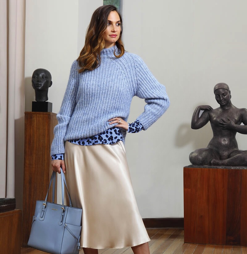 HC Fashion Shoot - Autumn Winter Knitwear and slip skirt